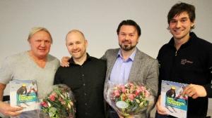 Antero Wallinus-Rinne (f.v), Frank Abrahamsen, Erlend Gitsø, og Brynjar Saua. Foto: Geir Owe Fredheim