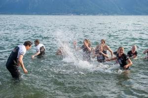 De tyske damene og suksesstrener Giovanni Guidetti startet likegodt årets badeferie i Montreaux