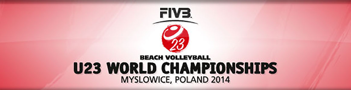 VM sandvolleyball U23 2014 semifinale menn: Tvinde-Mol vs Poniewaz-Poniewaz
