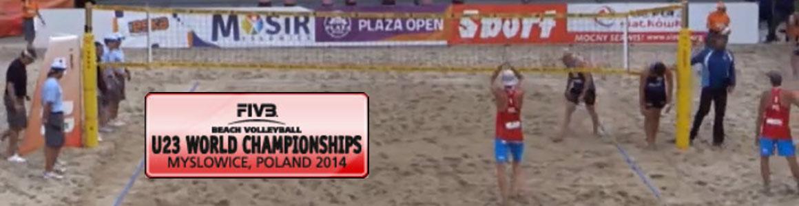VM sandvolleyball U23 2014 finale menn: Tvinde-Mol vsKosiak-Rudol