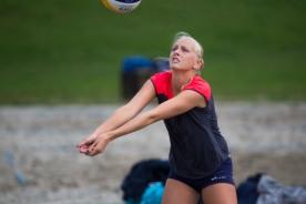 Sunniva Helland-Hansen - forberedelser til EM sandvolleyball 2014 på Voldsløkka i Oslo.