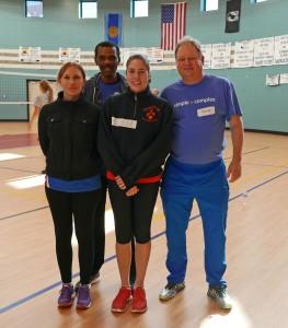 Mine nye volleyballvenner er Anna fra Polen, Frantz fra Haiti og Melinda fra USA. Alle følger GMS-systemet.