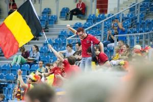 Belgia hadde en entusiastisk heiagjeng i VM i Polen.