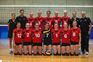 Loes Torfs (lengst til venstre) med Top Volley Belgium i 2012