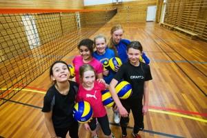 Bruk av langnett gjør gymsaler godt egnet for opplæring i volleyball