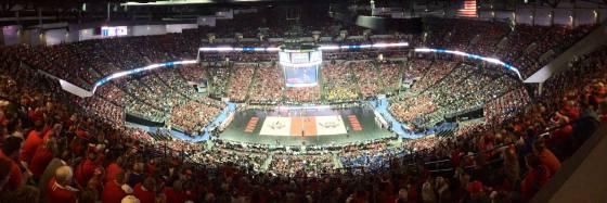 Ny rekord 17.551 tilskuere så semifinalene i NCAA-sluttspillet.