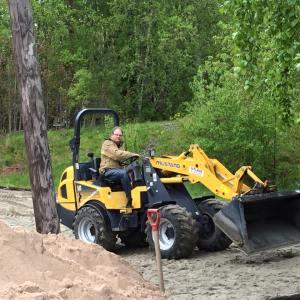 En morsom måte å fordele sanden