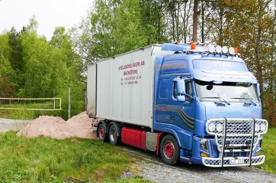 Sand levert fra Sverige