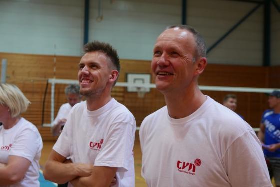 Kursdeltagere Frode Walde (t.v.) og Harald Johnsgaard i godt humør.