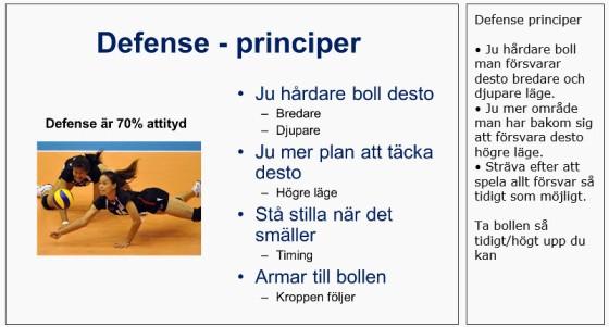Eksempel - Prinsipper for forsvar - fra XPS Volleyboll
