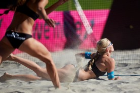 Ingrid Lunde treffer sanden