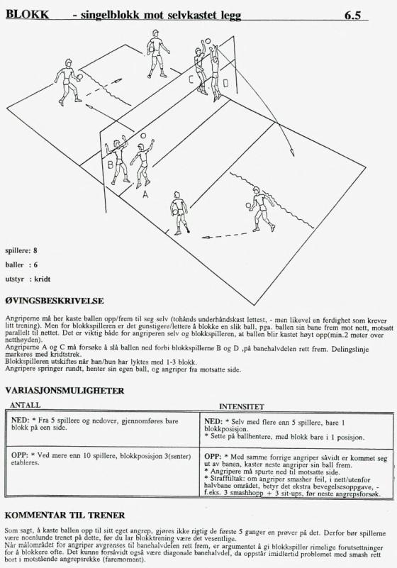 Fra boken «Volleyball-øvelser» utgitt 1991