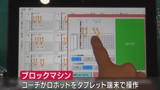 Trener benytter nettbrett for å programmere blokken